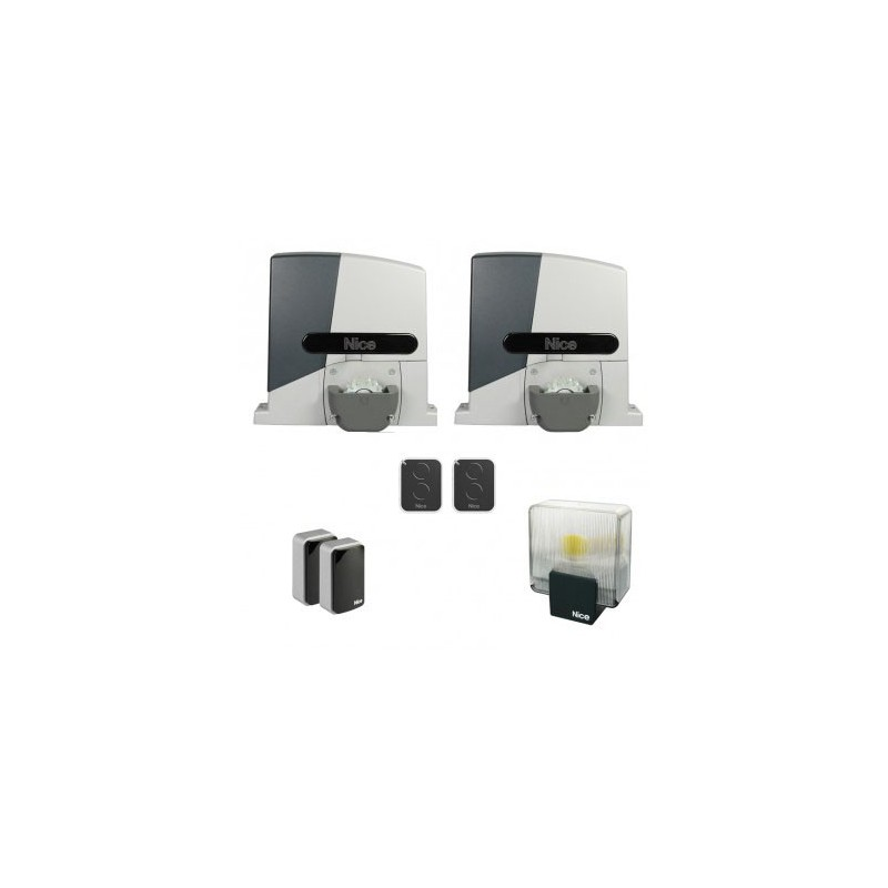 kit de motorisation nice rb1000pkce 2 pour portail coulissant 2 vantaux. Black Bedroom Furniture Sets. Home Design Ideas