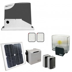 Nice Robuskit 400 Solemyo portail coulissant Energie solaire